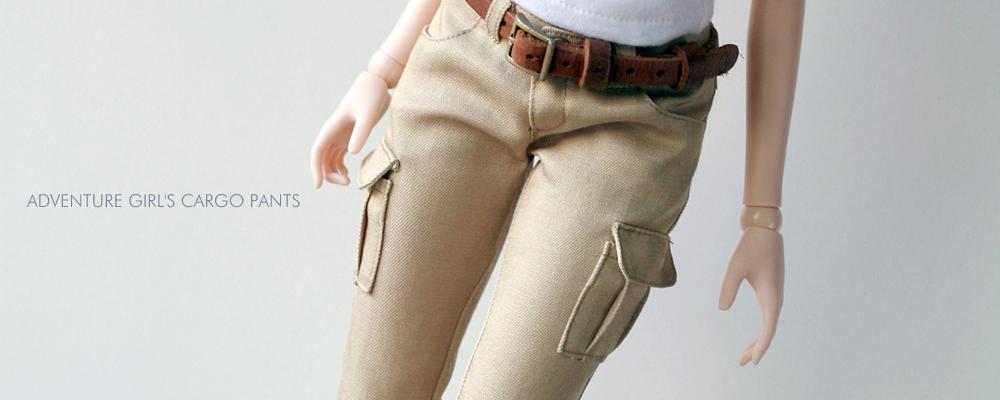 スマートドール用カーゴパンツ「Adventure Girl's Cargo Pants」